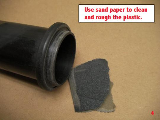 Use only a SMALL amount of glue.